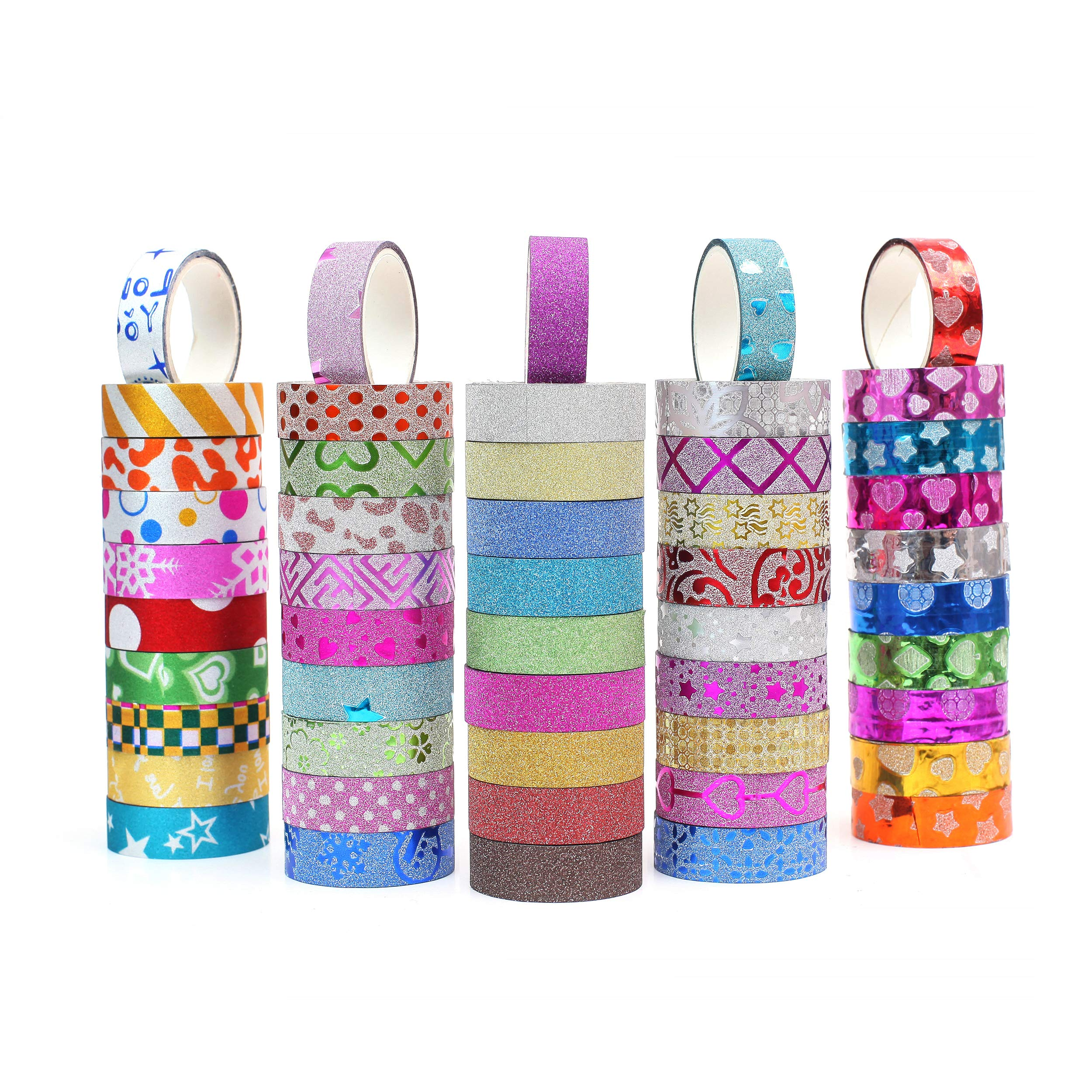 50 rolls cintas adhesivas con diseños (250cm largo)