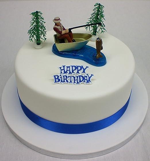 Pescador adorno lazo decoración para tarta para y feliz ...