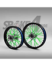 Cubre radios Verde Rayos Spoke Skins Motocross llanta enduro rueda moto