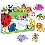 Roter Kafer Refrigerator Magnets for kids ZOO Animals (29 pcs) - Fridge Magnets for Toddlers - Kids magnets - Toddler magnets
