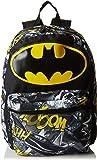 Meroncourt DC Comics Batman Big Logo with Comic Artwork Backpack (Black/Yellow)