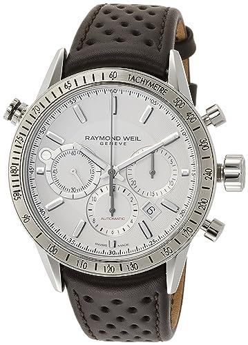 Raymond Weil Freelancer esfera blanca para hombre reloj cronógrafo 7740-stc-30001: Amazon.es: Relojes