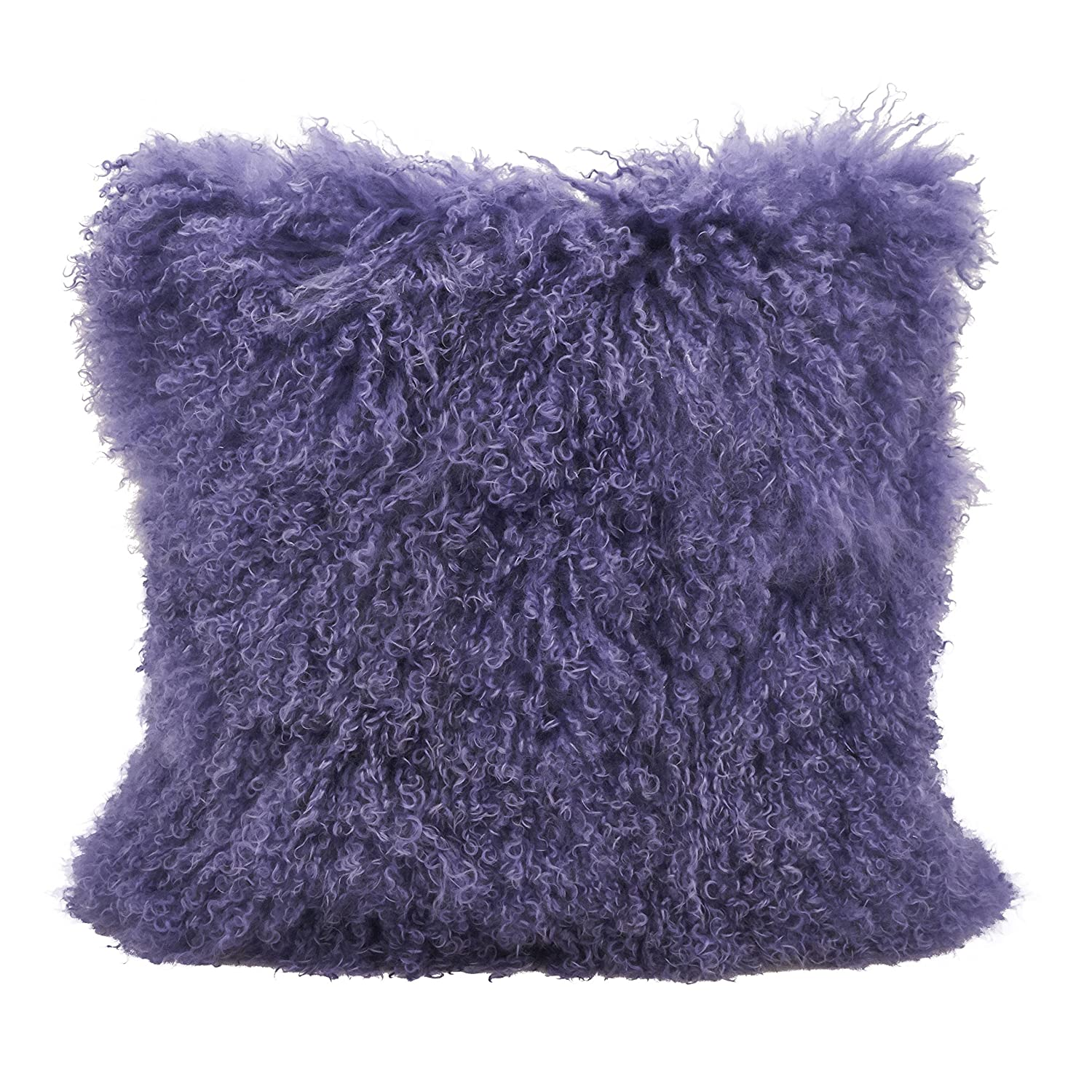 12 x 20 SARO LIFESTYLE 100/% Wool Mongolian Lamb Fur Throw Pillow with Poly Filling Fuchsia 12 x 20 3564.FU1220B