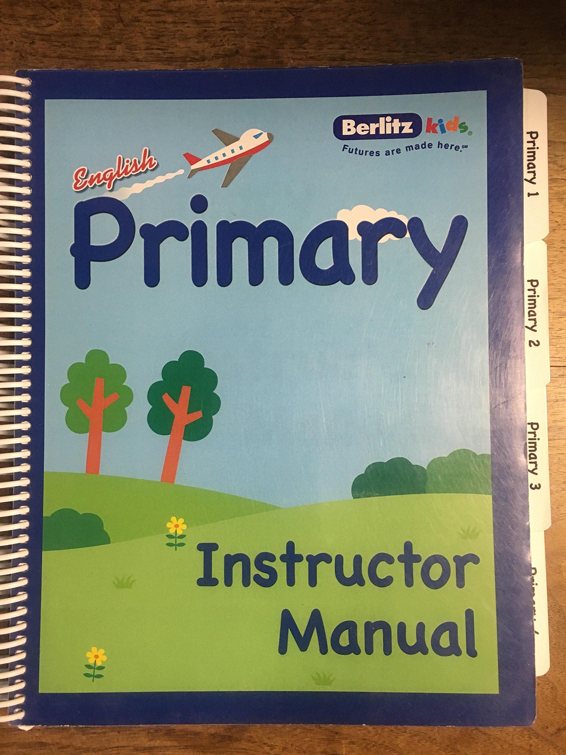 berlitz kids english primary instructor manual berlitz languages rh amazon com  berlitz english instructor manual