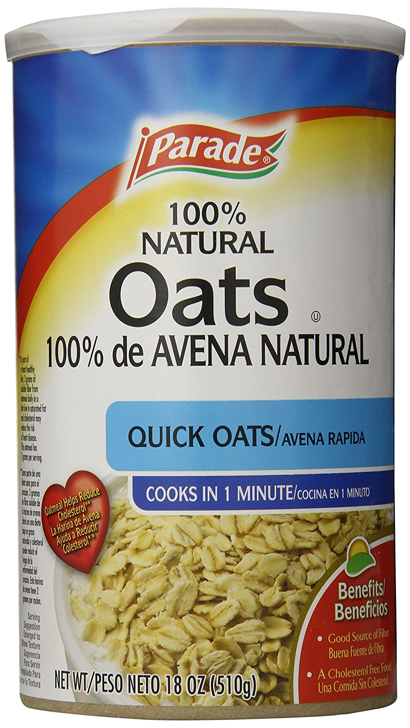 Parade Quick Oats, 18 Ounce (Pack of 12): Amazon.com: Grocery & Gourmet Food