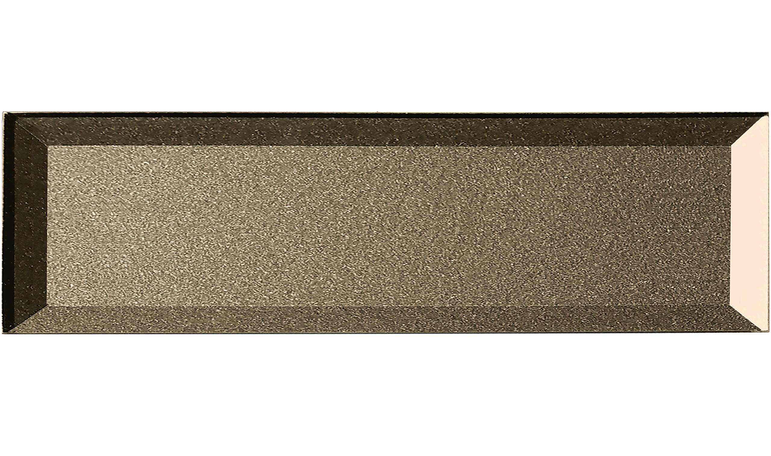Abolos Inner Bevel 3D Glass Subway Tile Kitchen Bathroom Backsplash Home, 4'' W x L, 12 sq. ft, 28 Piece AMZJAB0416-BR 4'' W x L, 4'' W x 16'' L, Bronze