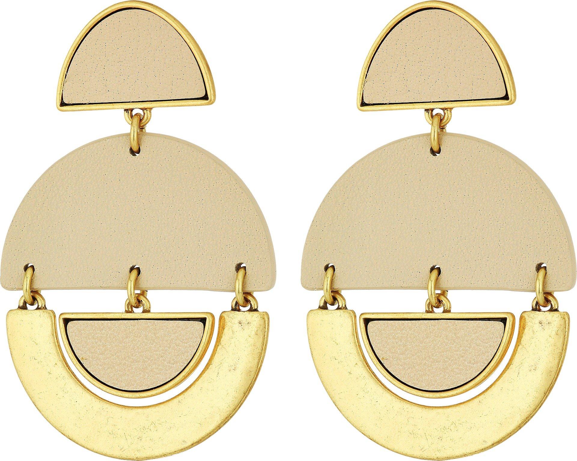 Lucky Brand Women's Geo Leather Earrings