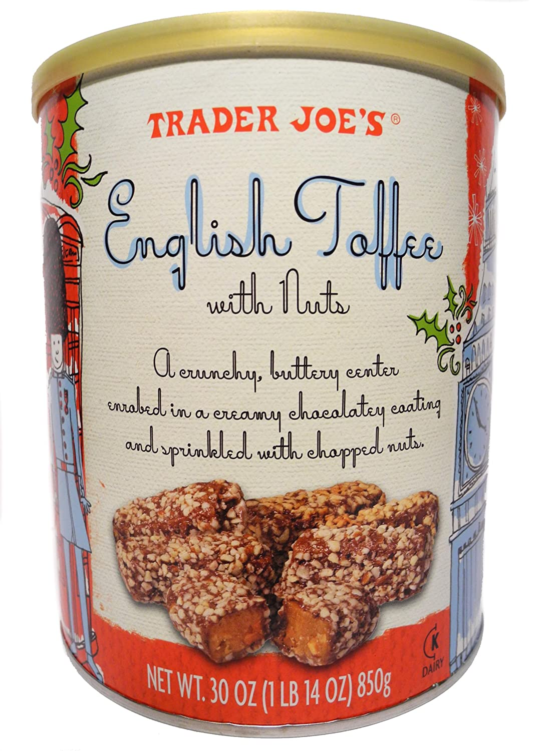 Amazon.com : Trader Joes English Toffee With Nuts, 30 oz : Toffee ...
