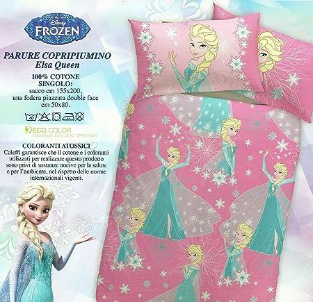 Parure Copripiumino Frozen.Caleffi Parure Copripiumino Frozen Elsa Queen Letto Singolo 1