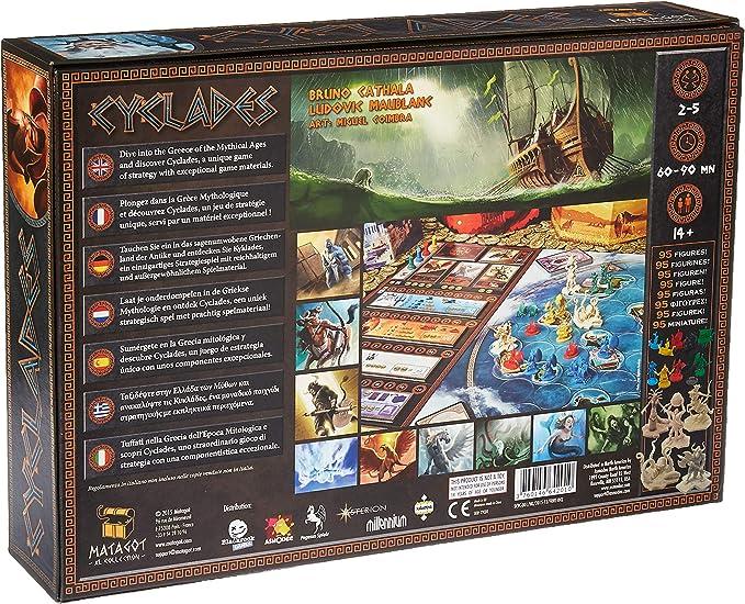 Matagot CYCLADES Juego de mesa edición de ocho idiomas, de 2 a 5 jugadores (200738): Amazon.es: Juguetes y juegos