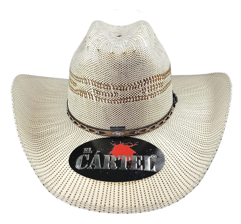 b17f9c78964c6 El General Men s Western Hat Sombrero 100X El Cartel Bangora Ivory Brown at  Amazon Men s Clothing store