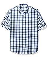 Amazon Essentials Men's Short-Sleeve Plaid Shirt