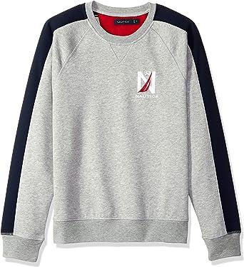 Nautica Mens Basic Crew Neck Fleece Sweatshirt Sweatshirt