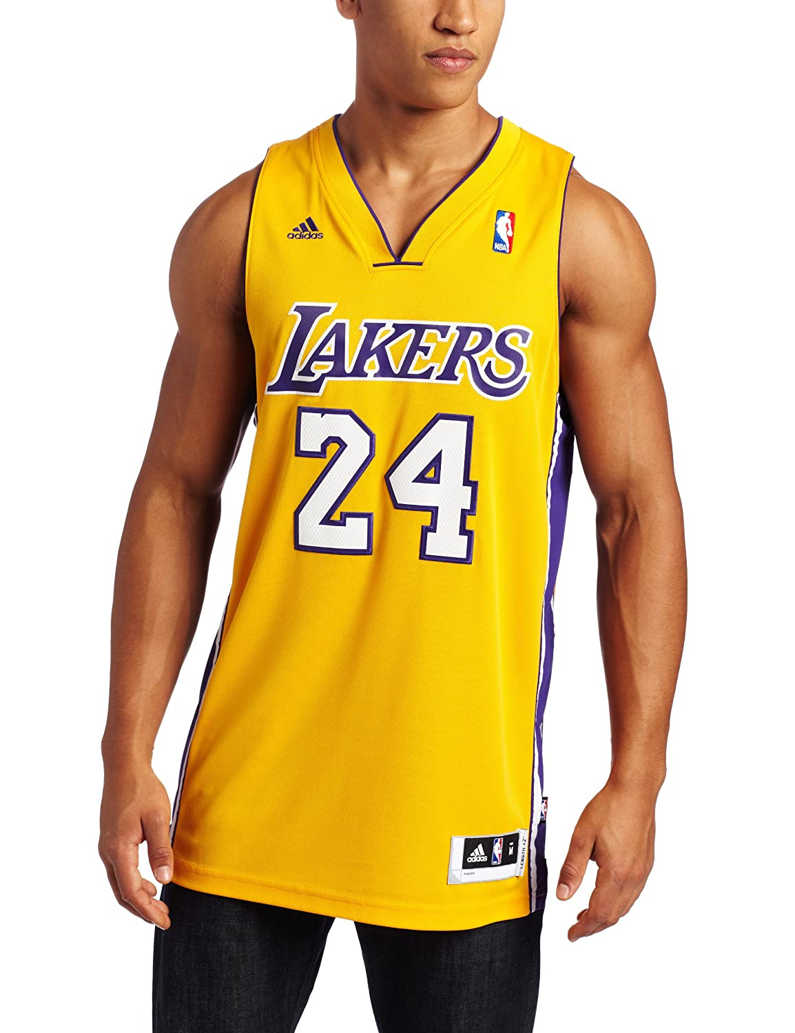 24f32a257f0 Amazon.com   NBA Men s Los Angeles Lakers Kobe Bryant Revolution 30 Home  Swingman Jersey H Size (Gold