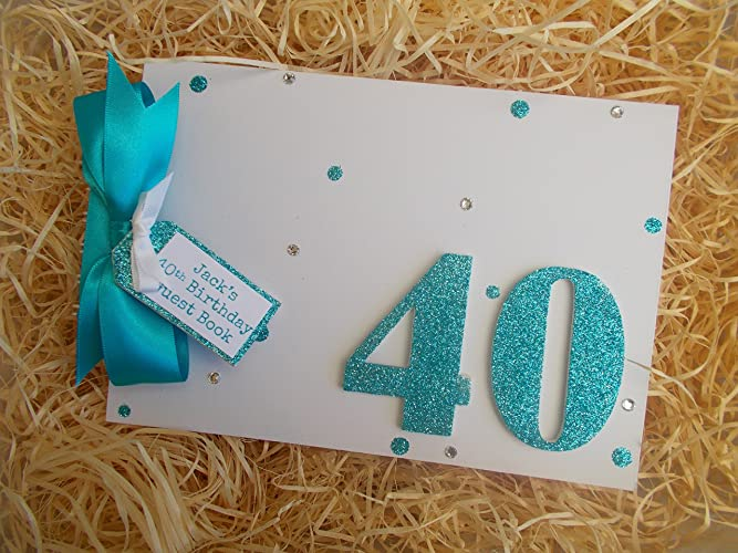 personalised 40th birthday guest book photo album memory book