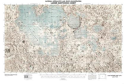 NASA Lunar Map; Earthside of Moon
