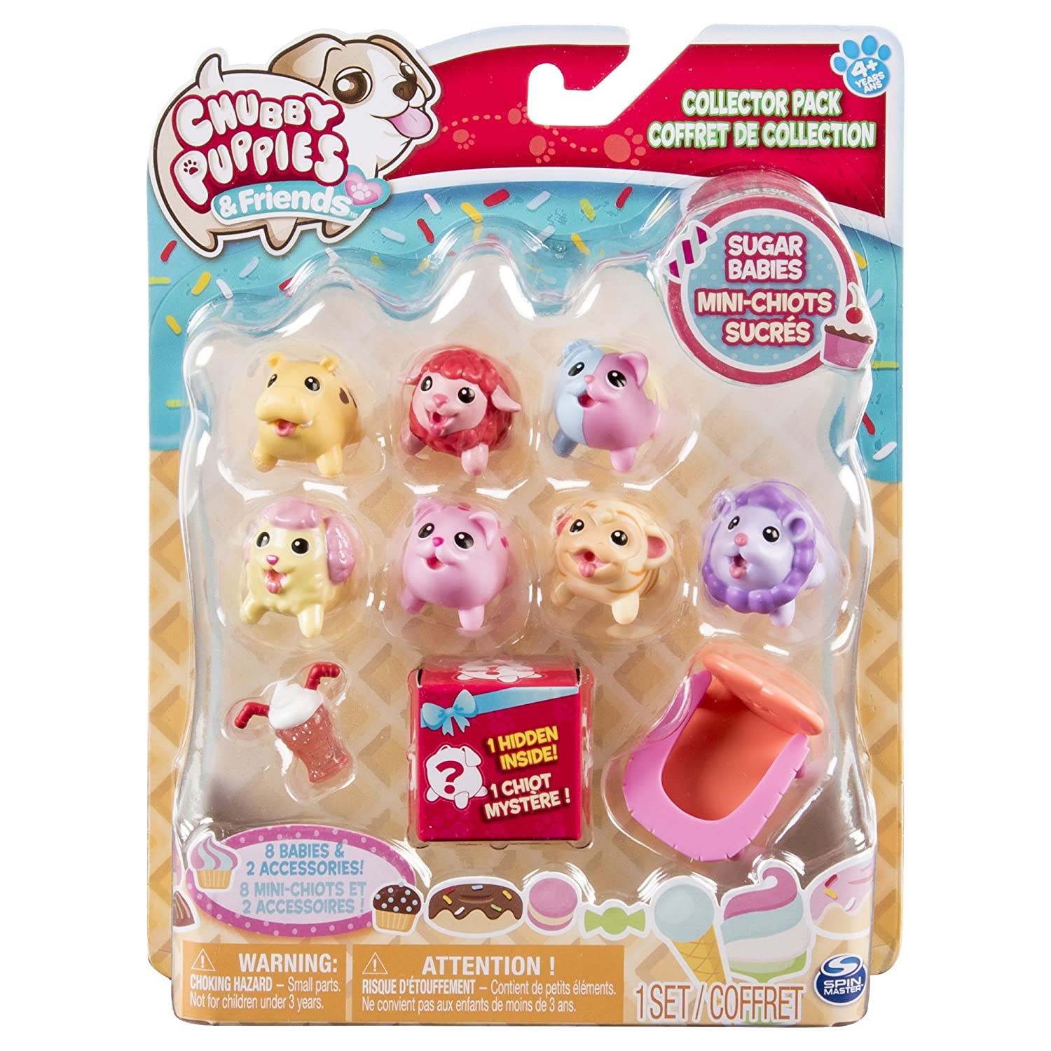 Chubby Puppies & Friends Collector Pack Sugar Babies (10 Pack) Spin Master 20090579
