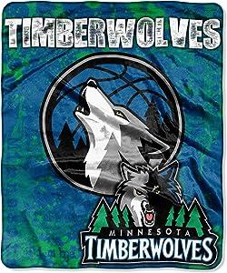 "NBA Minnesota Timberwolves ""Dropdown"" Raschel Throw Blanket, 50"" x 60"""