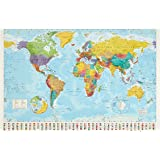 Amazon.fr - The World: Physical Map / Political Map - Jean