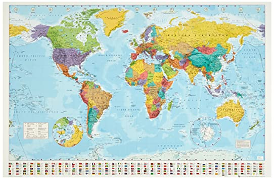 World map best seller poster print 36x24 amazon home kitchen world map best seller poster print 36x24 gumiabroncs Gallery