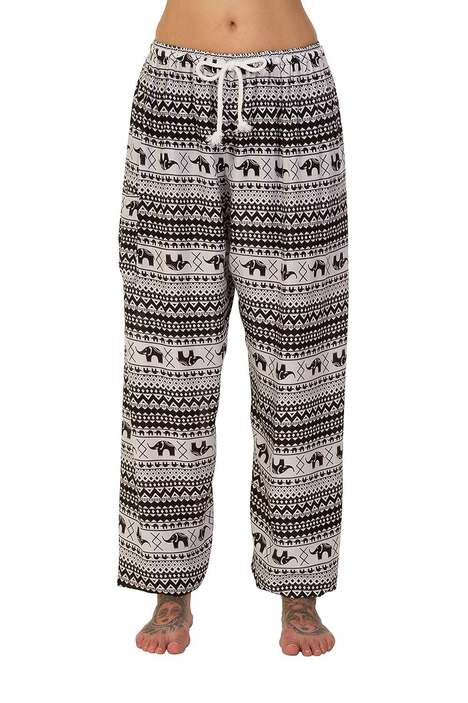 ThaiUK Harem Trousers Aladdin Hippie Pants With Drawstring Waist