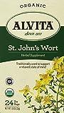 Alvita Tea Organic St. Johns Wort Herbal Tea Bags, 24 Count