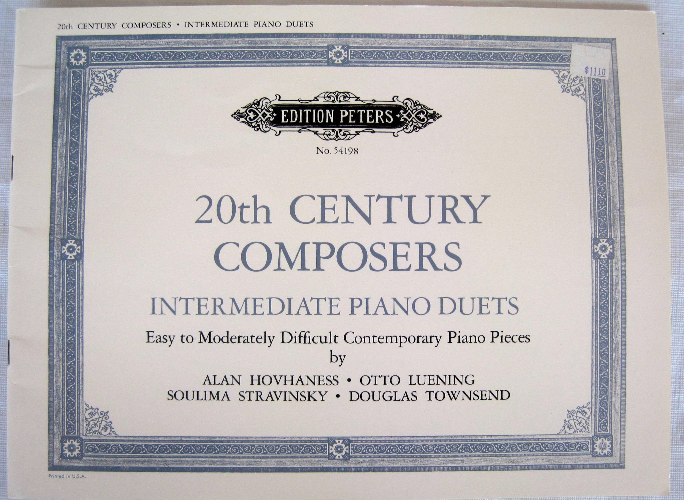 20th Century Composers: Intermediate Piano Duets Sheet Music