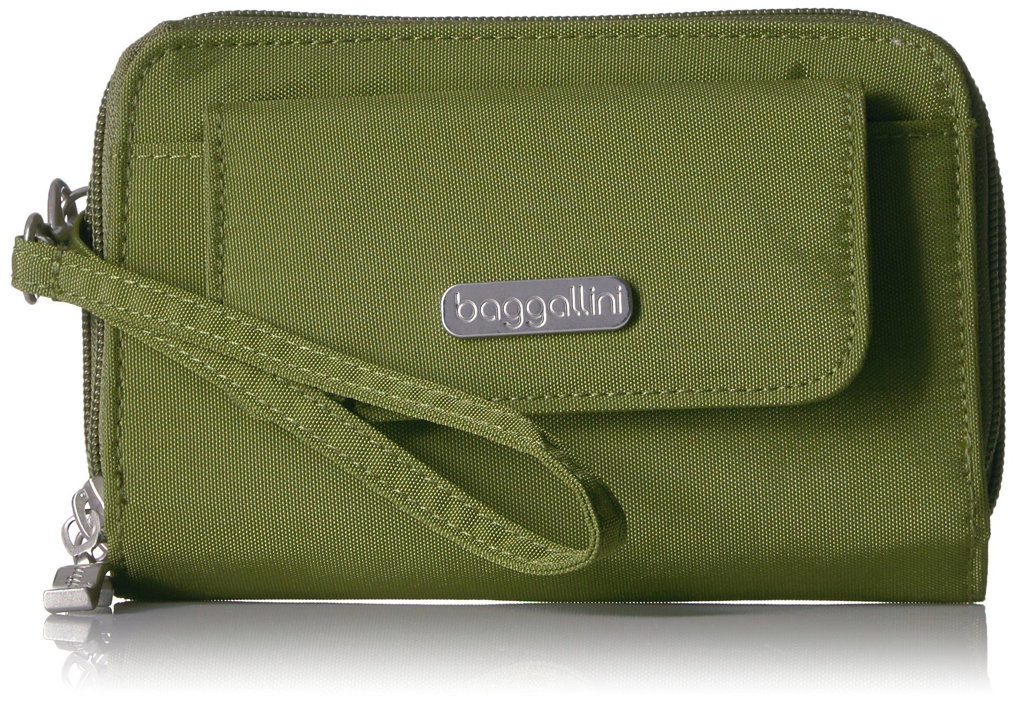 Baggallini Rfid Wallet Wristlet, Moss