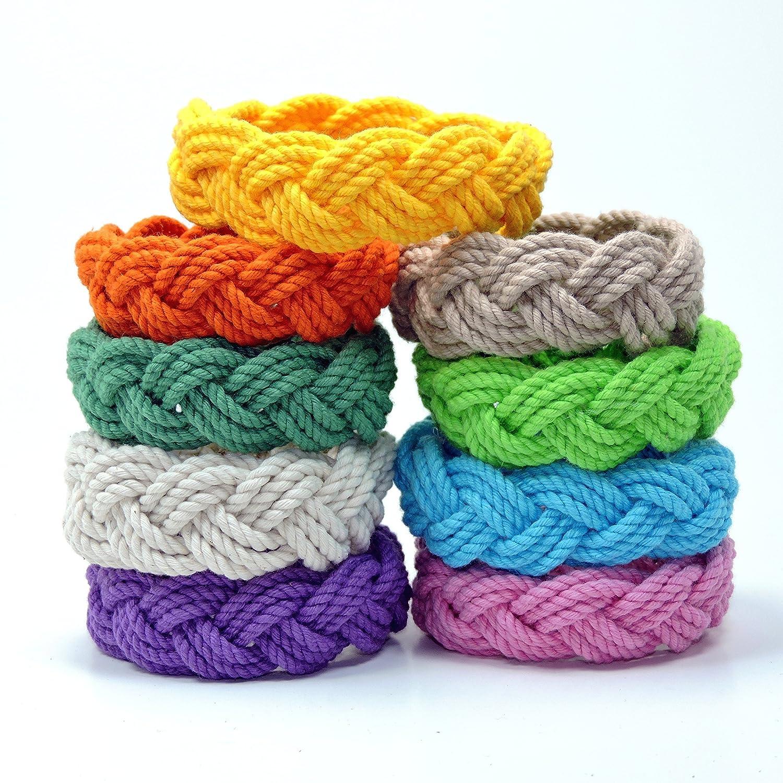 Original Mystic Sailor Knot Bracelet Tropical Colors Cotton Sailor Rope Bracelet