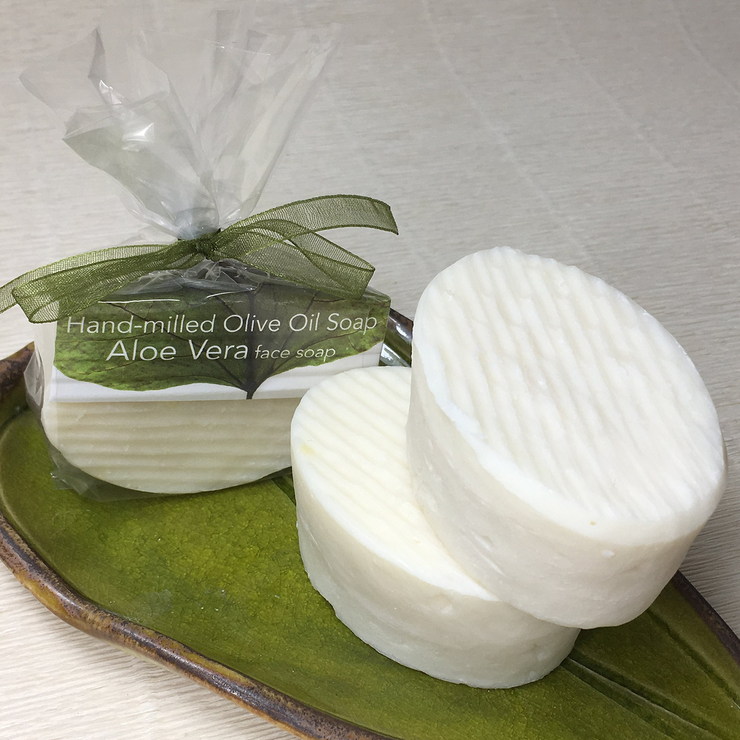 JANECKA Aloe Vera Oval Soap / Hand-milled Gentle Unscented ( Set of 3 )
