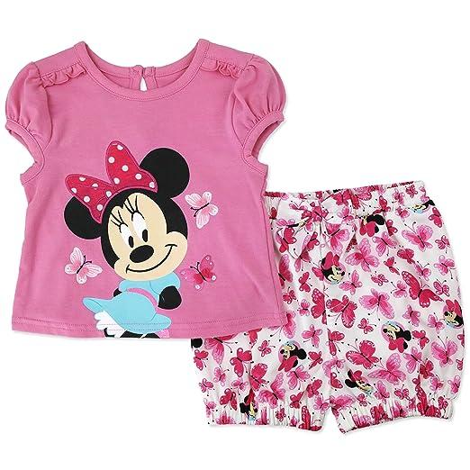 eba9370bc03f Amazon.com: Disney Character Girls Tee and Shorts Set (Baby): Clothing