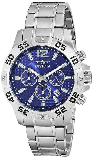 Invicta 1502 - Reloj de Pulsera Mujer Hombre, Acero Inoxidable, Color Plata