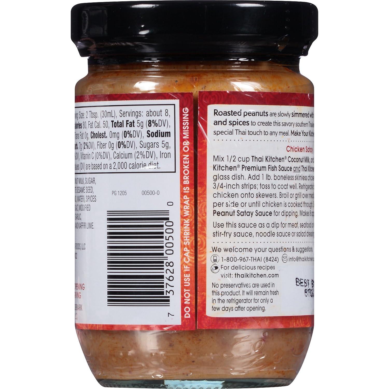 Amazon.com : Thai Kitchen Gluten Free Peanut Satay Sauce, 8 fl oz ...