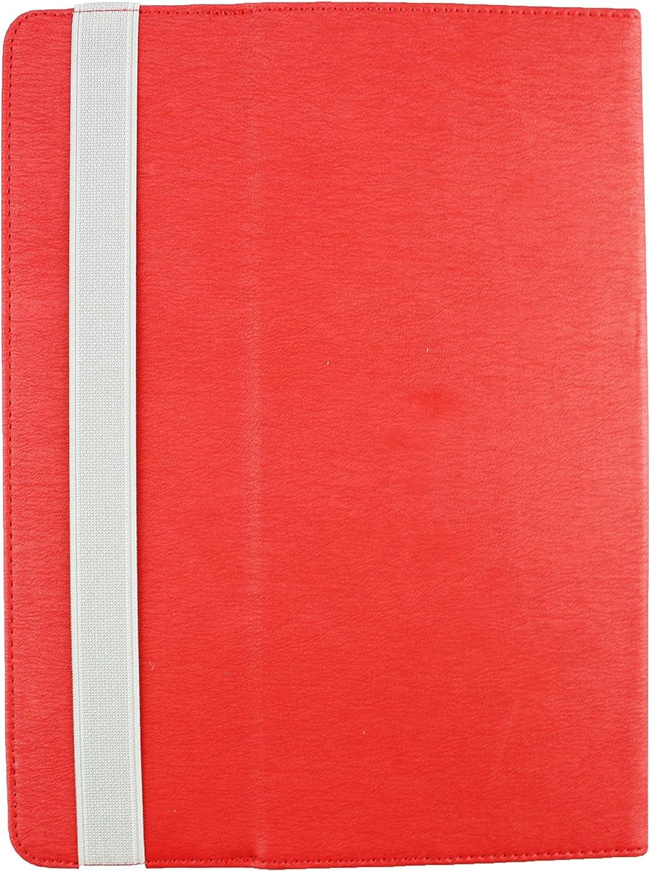 Rot E 9-10 Zoll Rot Premium/PU/Leder/Multi-Angle/Exekutive/Folio/Geldb/örse/Tasche/H/ülle Grey Innenraum/mit/Kartensteckpl/ätze Emartbuy/® Alcatel OneTouch Pixi 3 10 Zoll Tablet Universal