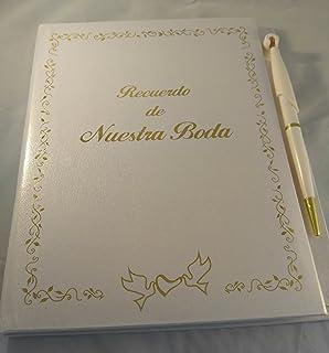 Libro Blanco Recuerdo De Nuestra Boda Invitados & Notas. Wedding Book.