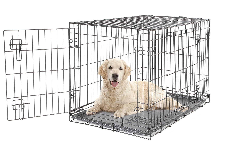 Dogit Käfig für Hunde / Katzen, 2-türig, 91x56x62cm, Schwarz