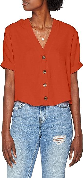 New Look 5909932 Camisa, Naranja (Burnt Orange 81), 42 para ...