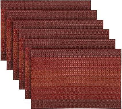 Brun Salle /à Manger R/ésistant /à la chaleur en PVC Lavables pour Cuisine Anti usure KoKaKo Sets de Table Tapis de Table,4Pcs,Antid/érapants