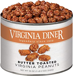 product image for Virginia Diner - Gourmet Natural Extra Large Butter Toasted Virginia Peanuts, 18 Ounce Tin