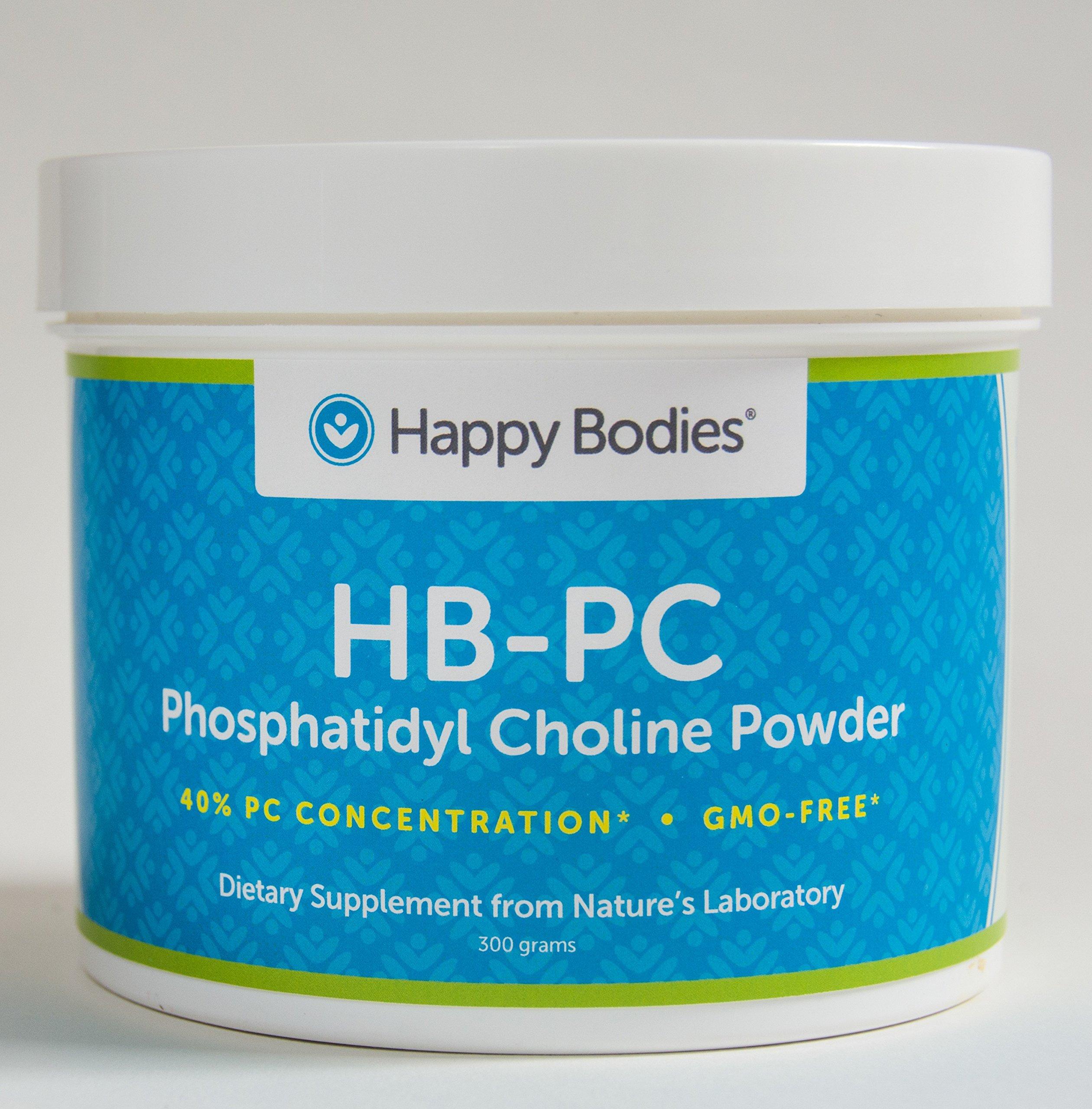HB-PC Phosphatidyl Choline-40%, 300 g, GMO-FREE Powder (HBPC) Happy Bodies by Happy Bodies