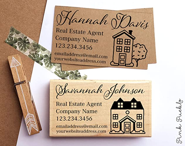Amazon Com Personalized Real Estate Business Card Stamp Real