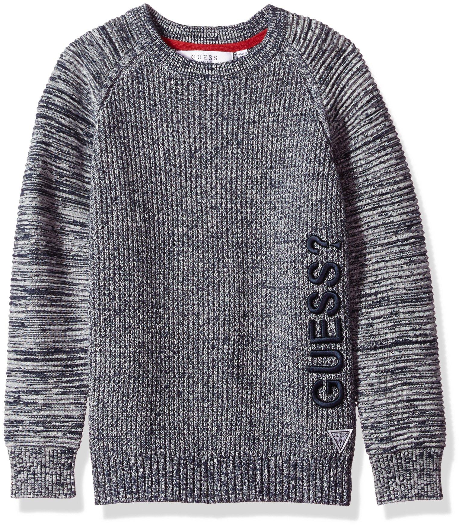 galleon guess big boys 39 long sleeve ottoman sweater navy grey fantasy 10. Black Bedroom Furniture Sets. Home Design Ideas