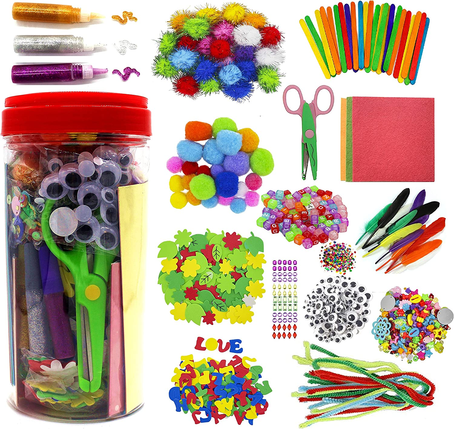 Assorted Colour Pipe Cleaners Art Crafts Glitter Creative School Project Child