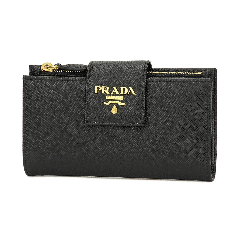 プラダ(PRADA) サフィアーノ メタル SAFFIANO METAL 1ML005 QWA F0002 2つ折り財布 ブラック 黒 [並行輸入品] B01IV695NC