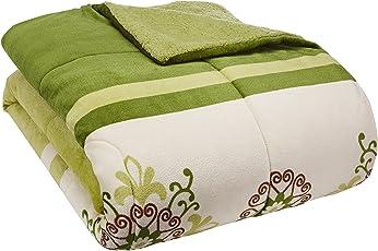 Colchas Concord Vermont Cobertor Borrega, color Verde, King