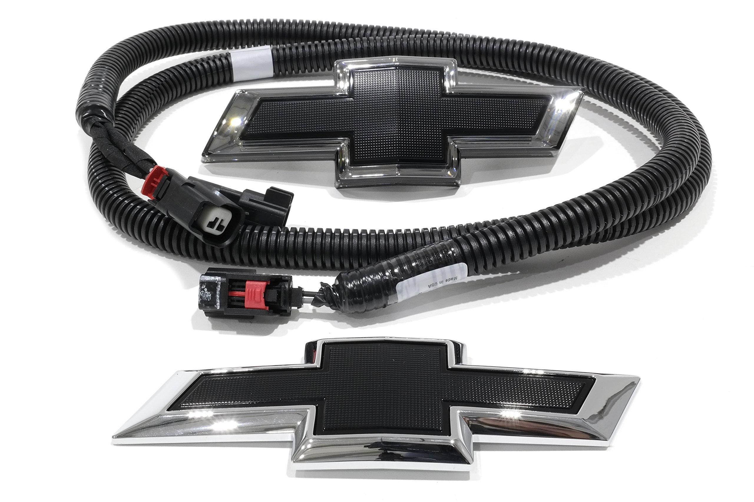 OEM NEW Illuminated Bow Tie Emblem Kit Front & Rear Black 16-17 Camaro 23393028