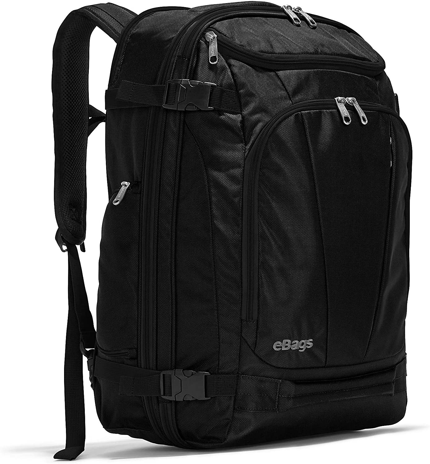 eBags Mother Lode Travel Backpack (Solid Black)