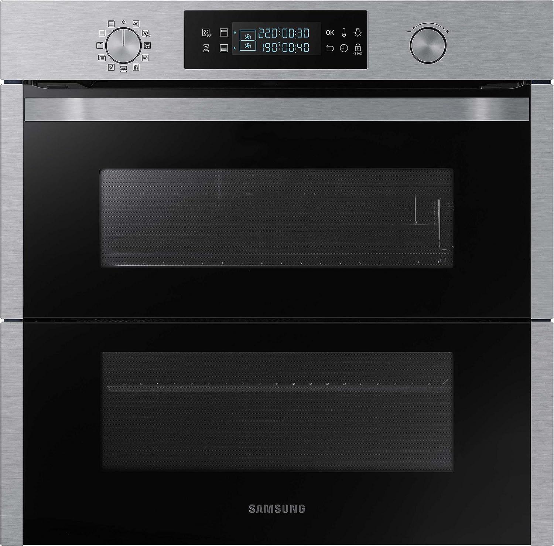 Samsung Dual Cook Flex NV75N5671RS/EG Backofen (Elektro/Einbau)/56, 6 cm/Pyrolytische Selbstreinigung/Automatikprogramme/XXL-Garraum/Silber [Energieklasse A+]