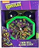 Teenage Mutant Ninja Turtles Alarm Clock with Twin Bell Alarm
