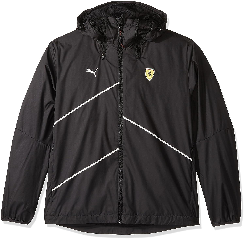 e7062f0f34 PUMA Men's Scuderia Ferrari Nightcat Logo Woven Jacket at Amazon ...